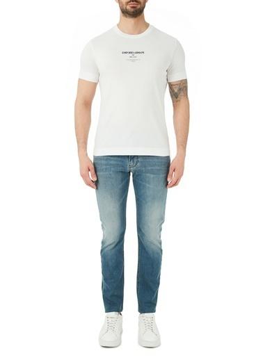 Emporio Armani  Slim Fit Pamuklu J06 Jeans Erkek Kot Pantolon S 8N1J06 1D19Z 0943 Lacivert